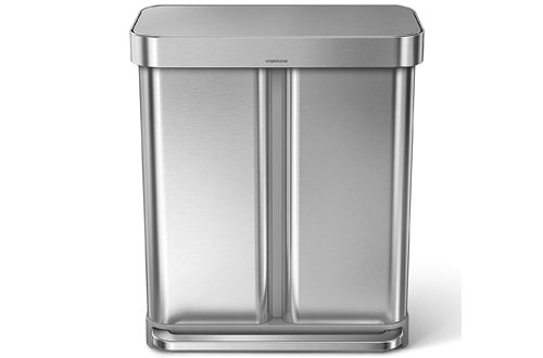 Simplehuman Compartment Brushed Stainless Steel Trash Can