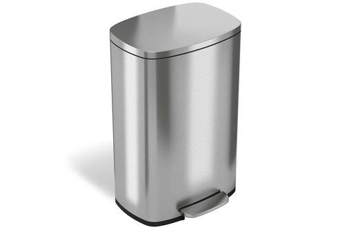 iTouchless SoftStep 13 Gallon Step Trash Can