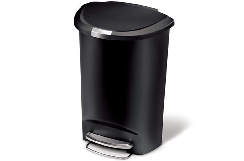 simplehuman 50 Liter / 13 Gallon Semi-Round Kitchen Step Trash Can