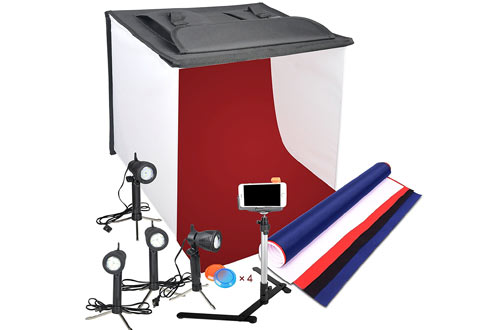 Emart Photography Table Photo Studio - LED Shooting Tent Box Kit