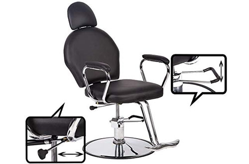 BestSalon Classic Hydraulic Barber Chair Beauty Salon Spa Chair