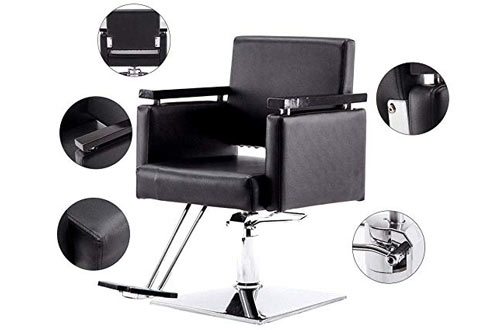 BarberPub Classic Hydraulic Barber Chair Salon Beauty Spa Hair Styling Chair