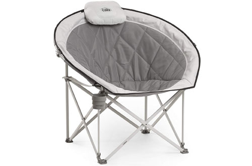 CORE 40025 Equipment Round Folding Oversized Saucer Chair