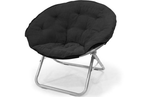 Mainstays Large Microsuede Black Saucer Chair