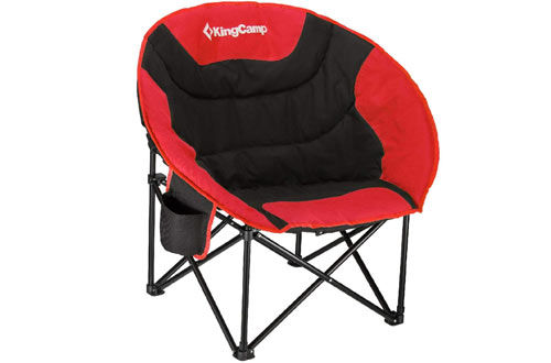 KingCamp Moon Saucer Chair for Camping with Cup Holder