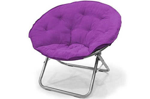Urban Shop Contemporary Solid Saucer Chair