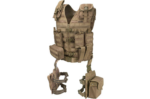 Loaded Gear Tactical Vest Light Outdoor Training Vest and Leg Platforms for Adults