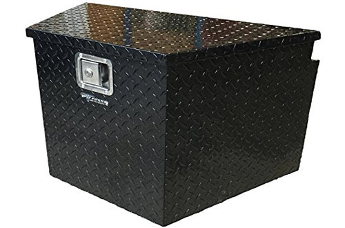 Pit Posse PP3281BK Aluminum Trailer Tongue Storage Tool Box Truck UTV Pickup