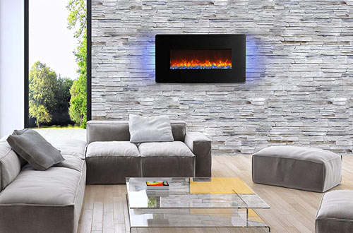 Innoflame E35c Wall Hanging Electric Fireplace Heater