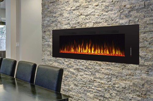 "Antarctic Star 60"" Recessed Electric Fireplace"