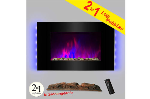 "AKDY 36"" LED Wall Mount Electric Fireplace"