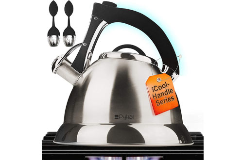 Pykal Stainless Steel Whistling Tea Kettle/Teapot for Stovetops