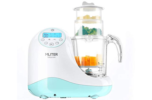 MLITER All in One Baby Food Maker with Steam Cooker, Blender, Chopper