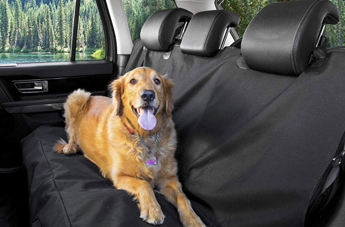 BarksBar Waterproof & Hammock Convertible Pet Seat Cover for Cars