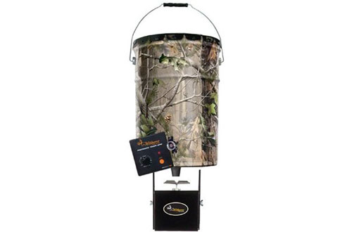 Wgi Innovations W50P Real Tree Camo Steel Pail Feeder - 50-Lbs.