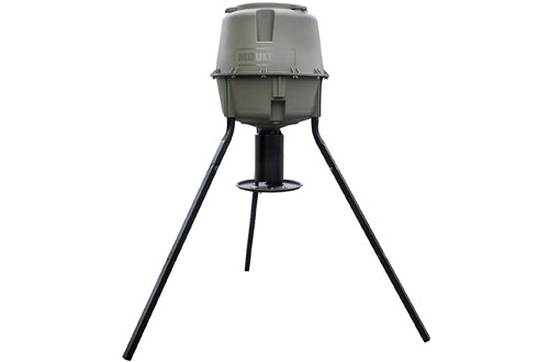 Moultrie Dinner Plate 30-Gallon Tripod Deer Feeder -  200 lb. Capacity
