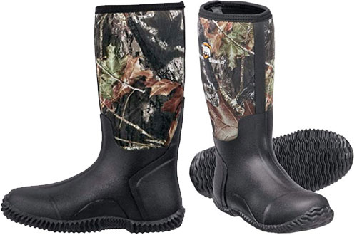 ArcticShield Men's Waterproof Insulated Rubber Hunting Boots
