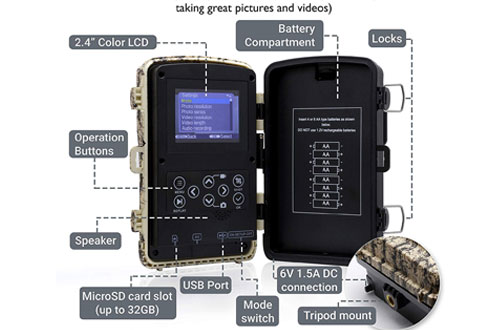 Full HD Wildlife FoxelliWildlife Scouting Hunting Game Camera– 14MP 1080P