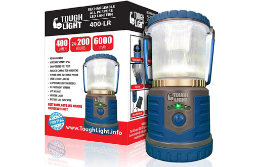 Tough Light LED Rechargeable Camping Lantern - 200 Hours of Light