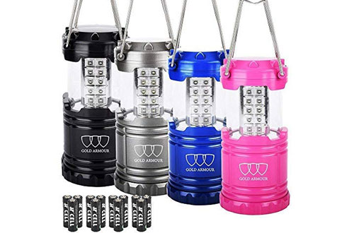 Gold Armour LED Camping Lanterns for Hiking, Emergency & Hurricanes