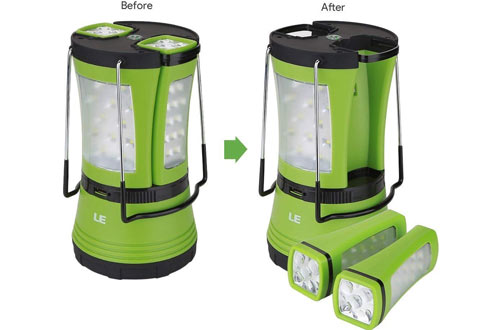 Portable LE Rechargeable LED Camping Lanternfor Outdoor & Hiking