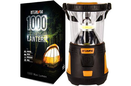 Massive Brightness 1000 LED Camping Lantern By Internova