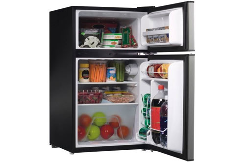 Galanz  Stainless Steel 2 Door Refrigerator with Freezer