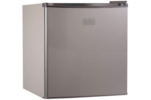 BLACK+DECKER BCRK17V Compact Refrigerator - Single Door Mini Fridge with Freezer
