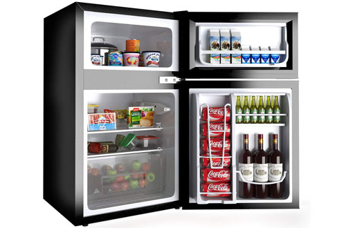 Costway 3.2 cu ft. Min Refrigerator - Small Freezer Cooler Fridge