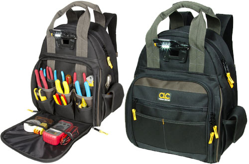 CLC Custom Leathercraft L255 Tech Gear Lighted Tool Backpack