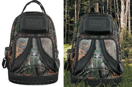 Klein Tools Backpack Electrician Tool Bag & Camo Tradesman Organizer