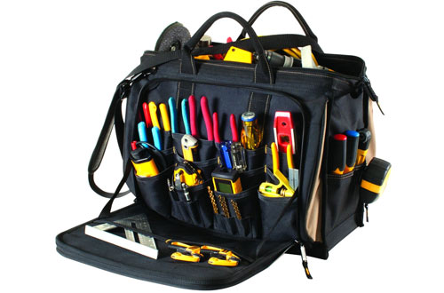 Custom Leathercraft Custom Leather Multi-Compartment Tool Bag