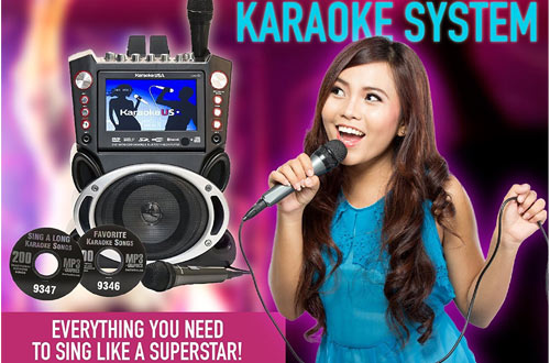 Karaoke USA GF845 Kids Karaoke System with Microphones
