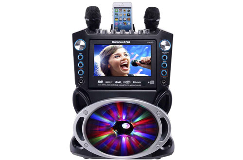 Karaoke GF842 Bluetooth Karaoke System with 7-Inch TFT Color Screen