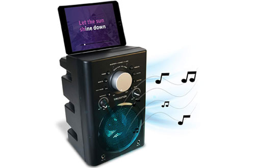 Singsation Full Karaoke Machine System with Bluetooth Speaker and Microphone