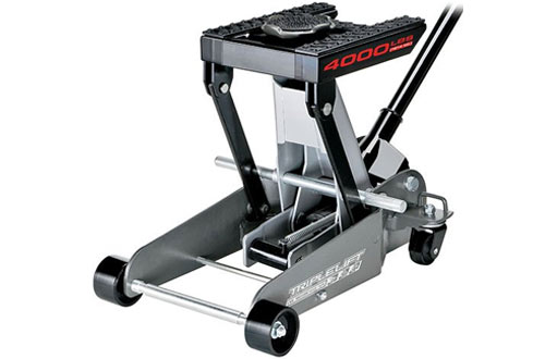 Powerbuilt 2-Ton Triple Lift Floor Jack for Cars, Trucks & Motorcycles