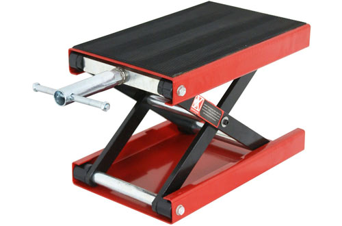 ZENY 1100 LB Motorcycle Center Scissor Lift Jack Stand for Bikes ATVs & Motorcycle Dirt Bike