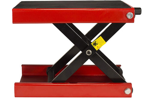 Dragway Tools 1100 LB Wide Deck Motorcycle Center Scissor Lift Jack Stand