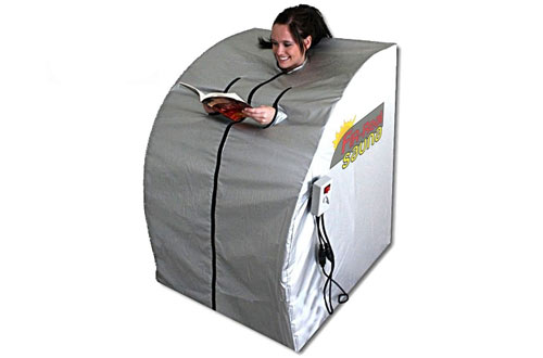 Portable Far Infrared Sauna with two Ceramic Heaters – FIR-Real