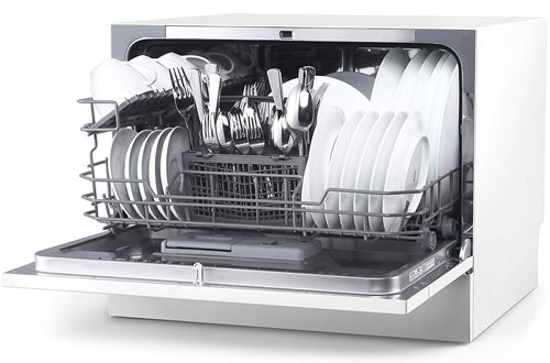 hOmeLabs Portable Compact Countertop Dishwasher