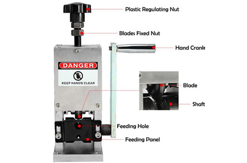 BEAMNOVA Manual Wire Crank Stripper for Scrap Copper with Drill