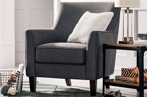 Stone & Beam Cheyanne Gray Accent Chair