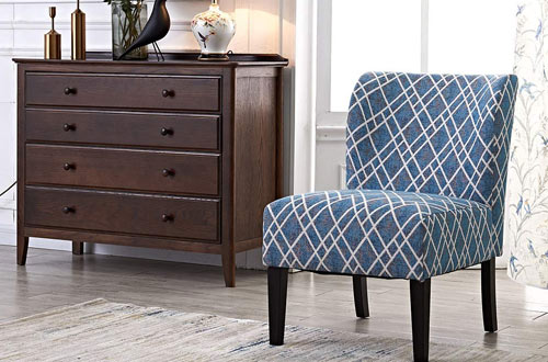INMAN Modern Accent Chair with Solid Wood Legs Single Pack