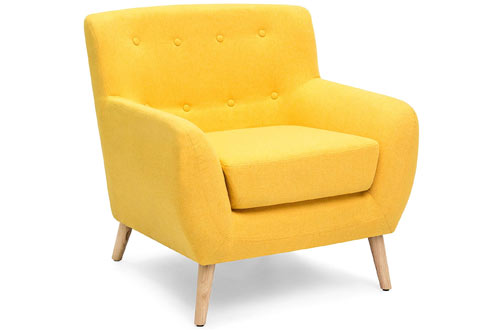 Best Upholstered Button-Tufted Accent Chair for Living Room