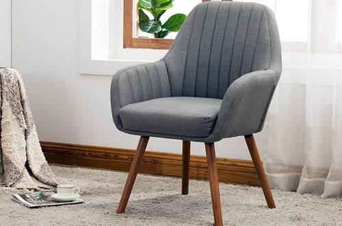 Roundhill Furniture Tuchico Contemporary Fabric Gray Accent Chair