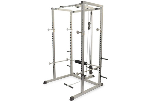 Valor Fitness BD-7 Power Rack w/LAT Pull Attachment & Other Bundle Options for a Complete Home Gym
