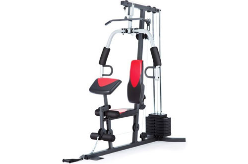 Home Gym Weider 214 lb Stack 300 lbs Exercise Chart & Ankle Strap