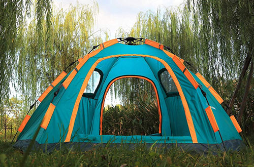 Wnnideo Instant Family Automatic Pop-up Tents Waterproof Tent for Outdoor  Camping, Travel & Beach