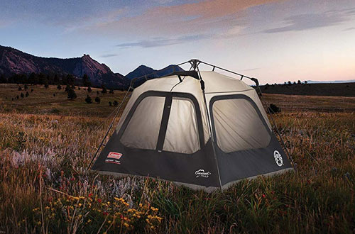 Coleman Cabin Tent for Camping Sets with Instant Setup