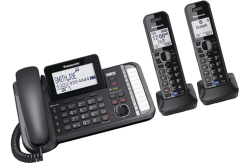 PANASONIC 2-Line Cordless Phone with 3-Way Conferencing